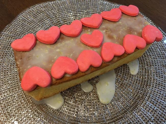 ハートのレモンケーキ