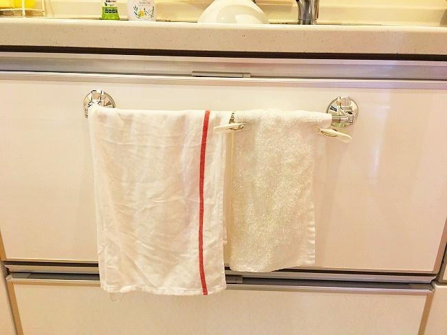 キッチンの手拭きとティータオル