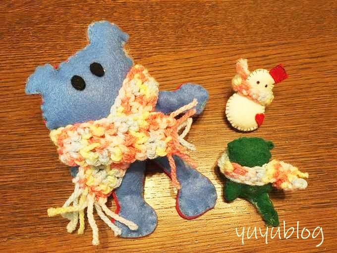 娘、息子、私の作ったお人形