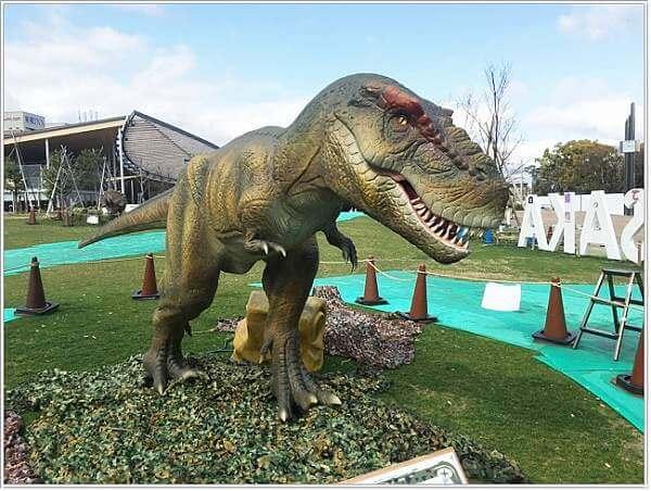 てんしばダイナソークイズラリーのティラノサウルス