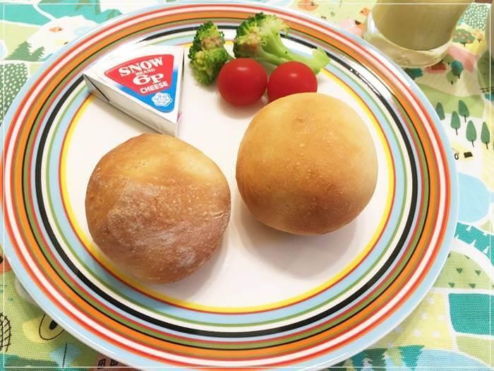 冷蔵庫で発酵して焼いたパン