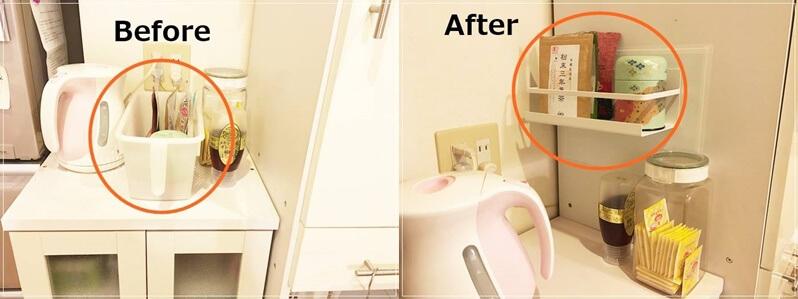 キッチンの壁にマグネットをつけて収納棚を作る方法!簡単にできるよ